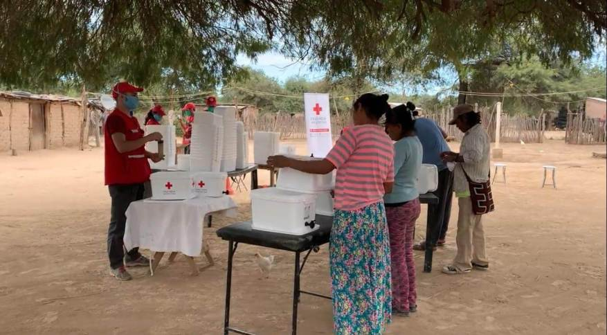 The Red Cross held workshops for members of the communities. (Photo: Argentina Red Cross video capture).