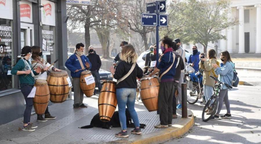Candomberos called for Ezekiel's release. (Photo: Macarena Pardo).
