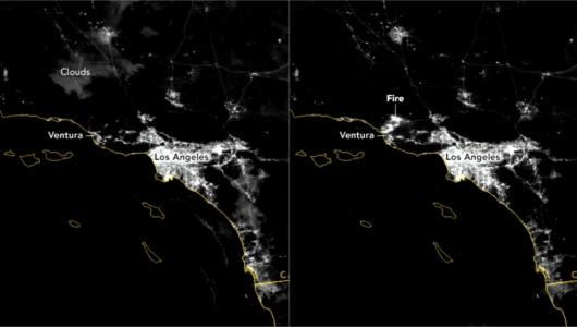 This is how California fires are seen from space