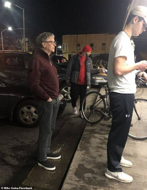 World's Richest Man, Bill Gates Sighted Queuing To Buy Burger In Seattle, USA