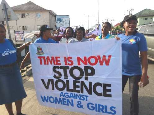 Bayelsa: Social Workers March Against Violence On Women, Children