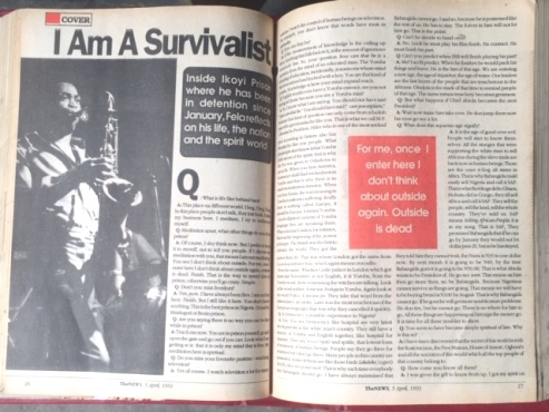 Roll Back To 1993 Fela's Ikoyi Prison Interview  With Detained Editors