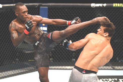 Nigerian, Israel Adesanya Knockout Brazillian  Paulo Costa In Title Defense At UFC 253
