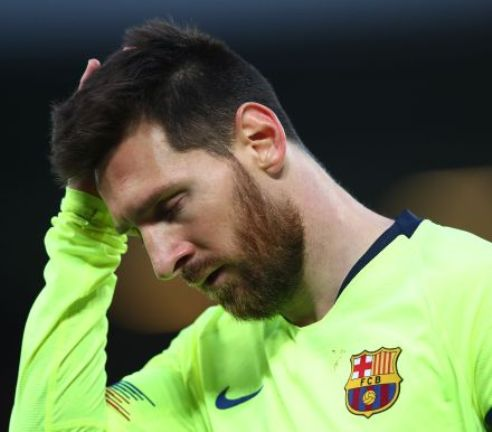 Lionel Messi Sent Off For first Time As Bilbao Beats Barcelona In Super Cup Final