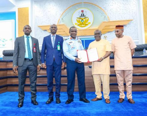 Nigerian Airforce Hospital Lab Bags ISO 15190:2012 Accreditation Certificate For Quality Management