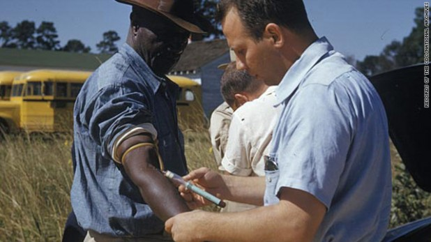 The Public Health Service took photographs during the Tuskegee syphilis study, but no captions remain. {CNN}