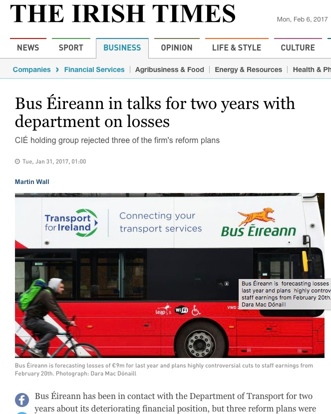 EXCLUSIVE  Confidential Bus Eireann plans revealed  – NewsScoops Org