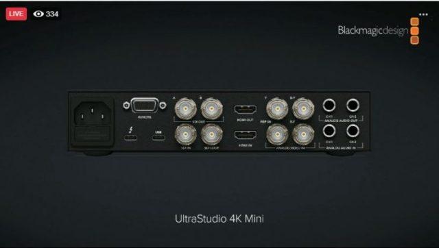UltraStudio 4K Mini rear