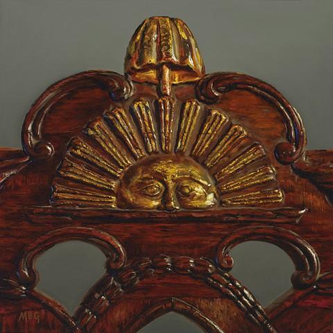 Crest Rail Detail, Geroge Washingtonu0027s Chair At Independence Hall.