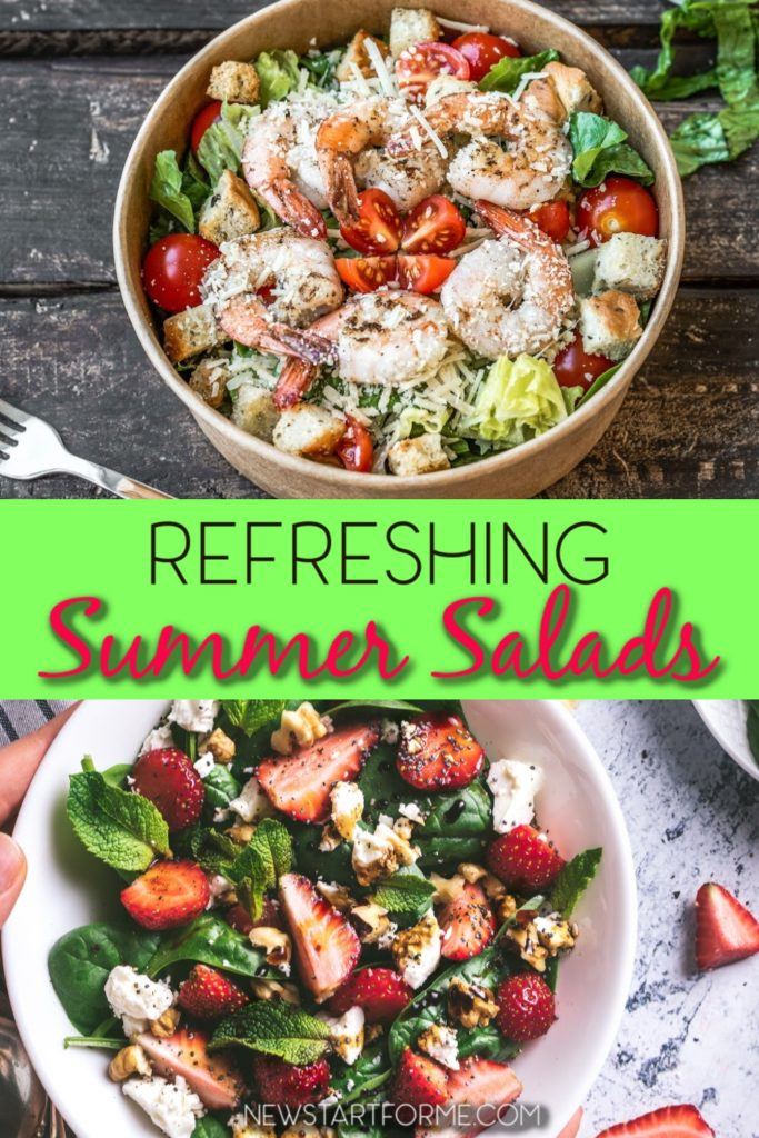 Refreshing salads are delicious on a hot day and offer variety to a healthy meal plan. These salad recipes are also easy to pack and take on the go. Healthy Salad Recipes   Salad Recipes for Weight Loss   Types of Salads   Summer Salad Recipes   Salad Recipes with Chicken   Weight Loss Recipes   Healthy Meal Plan Recipes #weightloss #recipes