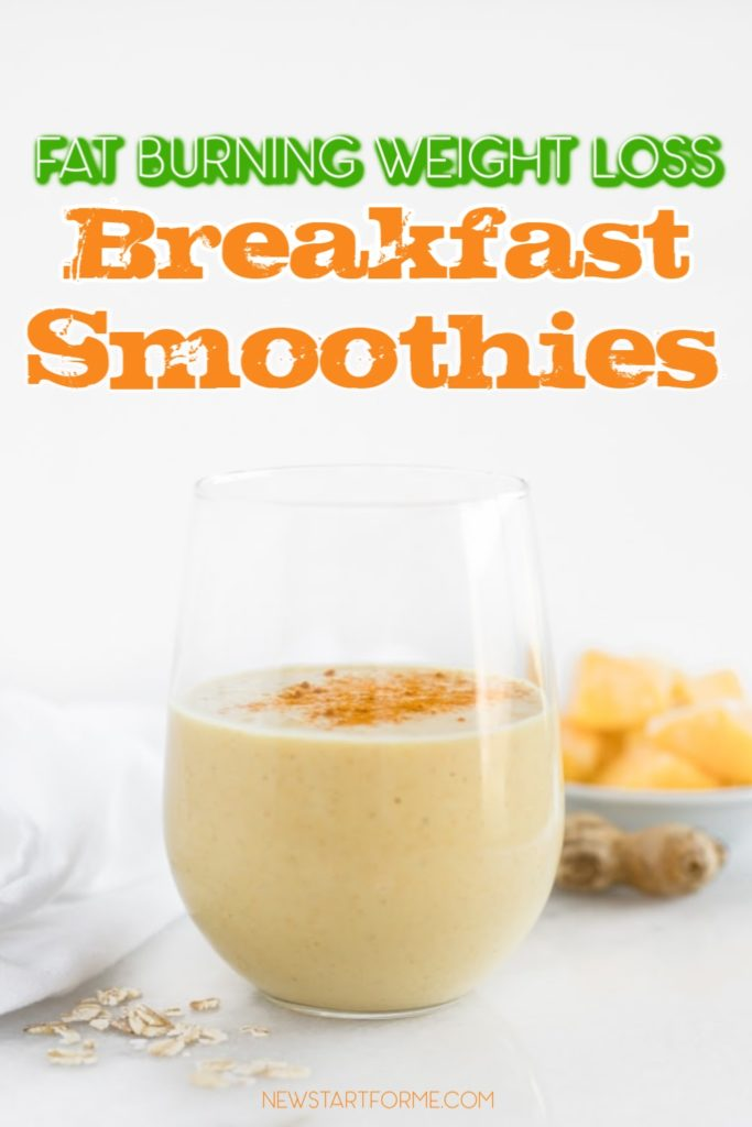Fat burning weight loss breakfast smoothie recipes can provide you with morning nutrients as well as help you lose weight at home.