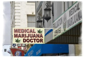 California was the first state to order the closure of non-essential businesses. This did not include purveyors of cannabis like this one. Photo: Damian Gadal