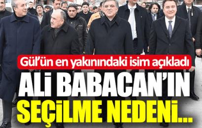 Gül'e En Yakın İsim Latif  Cem Baran Ali Babacan'ın Neden Seçildiğini Anlattı!