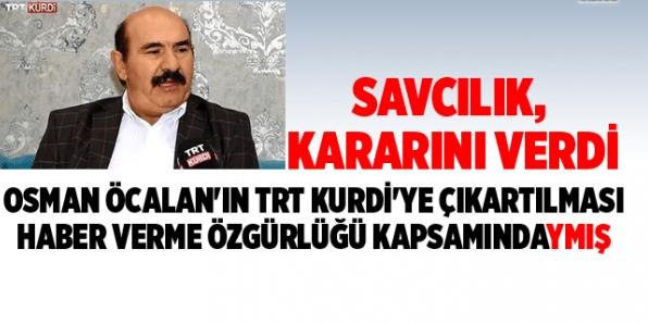 Osman Öcalan'ın TRT Kurdi'ye Çıkarılması Haber Özgürlüğüymüş