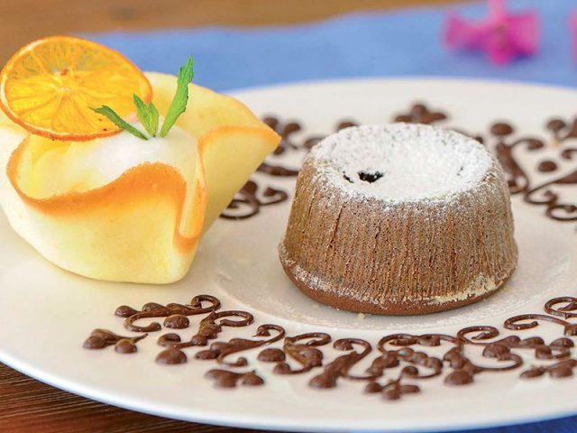 Sıcak çikolatalı kek
