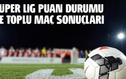 Spor Toto Süper Lig 22.Hafta Maç Sonuçları ve Puan Durumu