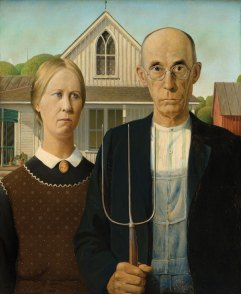 Grant Wood. American Gothic, 1930. The Art Institute of Chicago, friends of American Art Collection, 1930