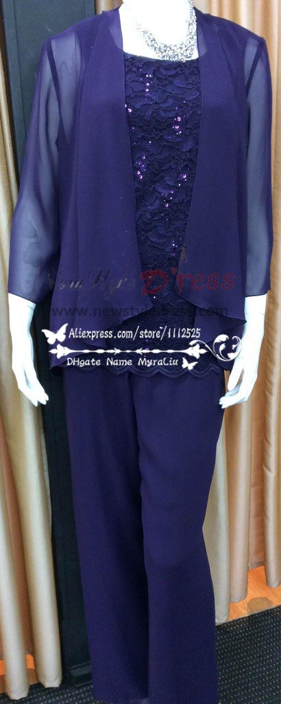 Plus Size Royal Blue Chiffon With Lace Mother Of The Bride