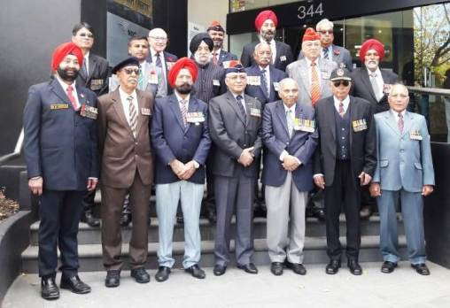 Indian veterans outside Indian Consultae