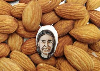 Young Indian artist paints PM's portrait on almond