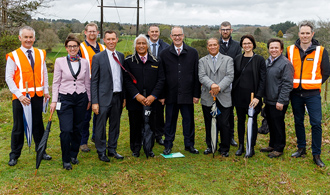Phil Twyford visits Peacocke, city's biggest growth project