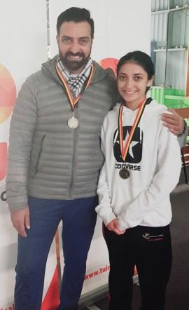 Rupinder with daughter, Amreen