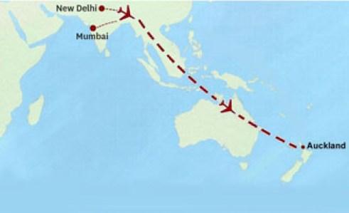 Flight from Delhi