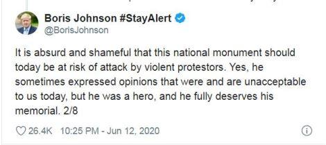 Boris Johnson's tweet
