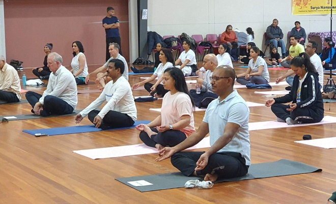 Yoga enthusiasts celebrate International Yoga Day in NZ