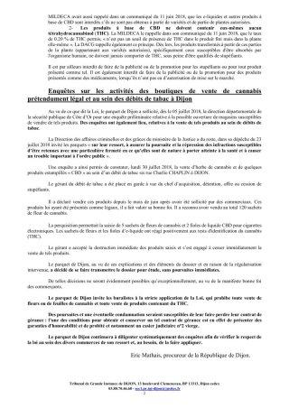 Communiqué procureur Dijon 31 juillet p.2