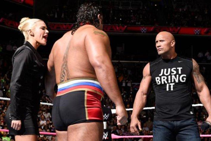 WWE News. image of The Rock returns