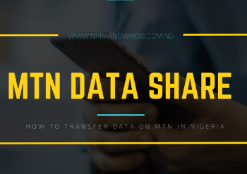 Transfer Data on MTN Nigeria