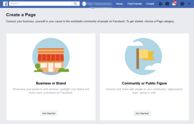 Image sample of facebook business page
