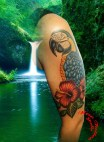 Parrot arm tattoo - Tatouage Perroquet bras