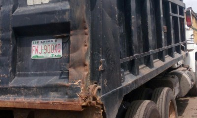 FRSC moves to curb tipper recklessness in Anambra, impounds 60 vehicles