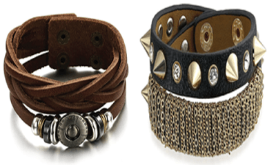 Grab attention with leather bracelets