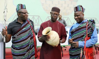 Minister of State for Mines and Steel Development working visit to pottery making communities in Benue State