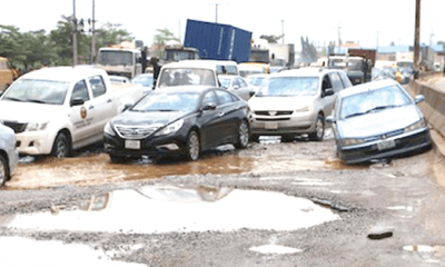 Season of potholes, gridlock on Lagos roads