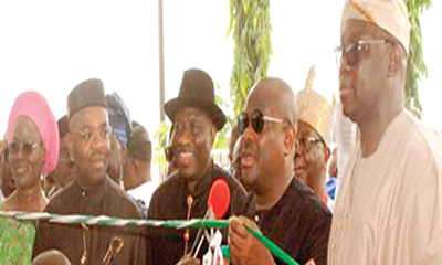 When Jonathan, Wike, Secondus, Udom converged on Ekiti