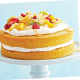 DIABETIC CAKE RECIPE: Coconut cream  and fruit-topped  vanilla cake