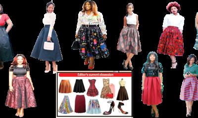 Midi skirt fancy effect