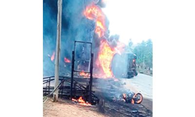 FRSC: Tanker fire destroys six buildings, shops in Onitsha