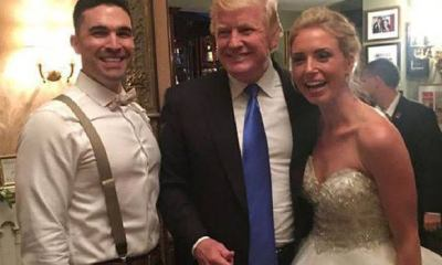 Trump crashes wedding, prompting 'USA' chants