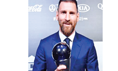 Messi wins record sixth FIFA Best Player award