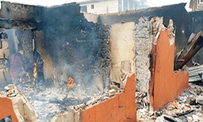 Edo midnight fire destroys goods worth millions of naira