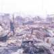 Trader slumps, dies as fire guts market