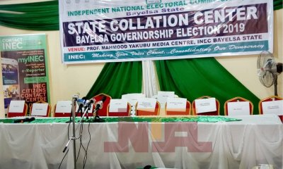 Bayelsa decides: INEC says collation of results to commence by 2pm