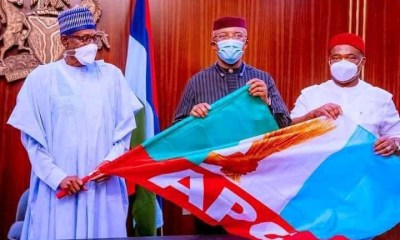 Buhari Receives Anambra Deputy Governor After Defecting To APC