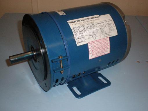 0.37kW 240V Single Phase, 4-pole, Drip-Proof, Resiliant Base