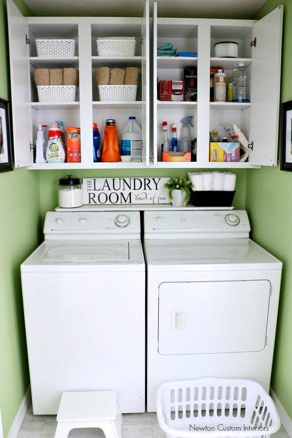 Organizing A Small Laundry Room - Newton Custom Interiors on Laundry Room Organization Ideas  id=87274